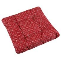 Sedák Adela Štvorce červená, 40 x 40 cm
