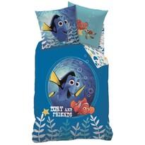 Detské bavlnené obliečky Nemo, Dory and friends, 140 x 200 cm, 70 x 90 cm