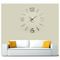 StarDeco Nástěnné hodiny stříbrná, pr. 60 cm