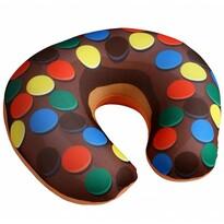 Cestovný vankúšik Donut lentilky, 30 x 30 cm
