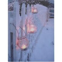 Tablou cu LED-uri Shining Lantern, 40 x 30 cm