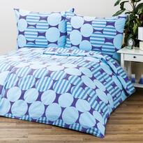 4Home obliečky Helen modrá 1+1, 140 x 200 cm, 70 x 90 cm