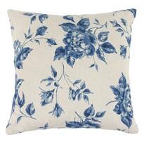 Poduszka-jasiek Ivo róża niebieski, 45 x 45 cm