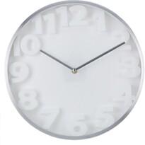 Zegar ścienny Number, biały