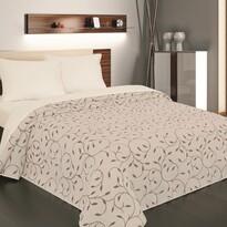 Narzuta na łóżko Indiana brązowa, 140 x 220 cm