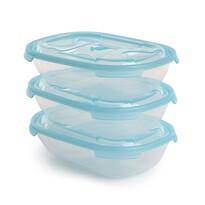 Tontarelli Sada plastových dóz na potraviny Nuvola 0,5 l, 3 ks