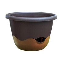 Samozavlažovací kvetináč Mareta 30 hnedá, závesný
