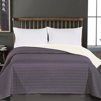 DecoKing Prehoz na posteľ Salice sivá, 240 x 260 cm