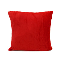 Vankúšik Mikroplyš New červená, 40 x 40 cm