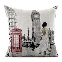 Obliečka na vankúšik Gobelín žena v Londýně, 45 x 45 cm