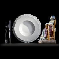 Hlboký tanier Dressed 23,3 cm, biely