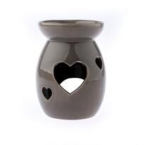 Keramická aromalampa Srdce, šedá