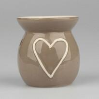 Kominek aromatyczny Heart, brązowy