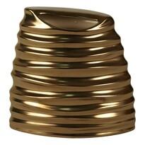 Keramická váza metalická zlatá, 18 cm