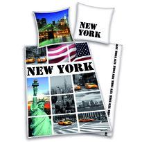 Bavlnené obliečky New York collage, 140 x 200 cm, 70 x 90 cm