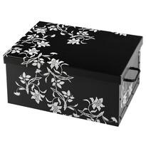 Úložný box Ornament 51 x 37 x 24 cm, čierna