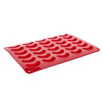 Formă de cornuleţe Banquet Culinaria Red, din silicon 35 x 25 x 1,3 cm