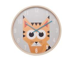 Karlsson JIP0903 dziecięcy zegar ścienny z tygryse