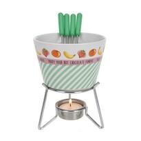 Set na fondue Star, zelená
