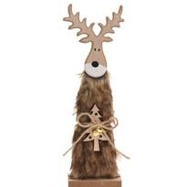 Vianočný drevený Sob Ervín hnedá, 30 cm
