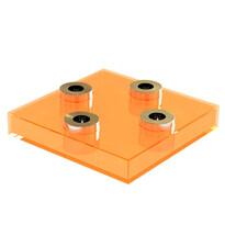 Svietnik Square Lighz, oranžový