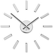 Future Time FT9400SI Modular chrome Designové samolepicí hodiny, pr. 40 cm