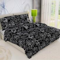 Bavlnené obliečky Vetvička čierna, 140 x 220 cm, 70 x 90 cm