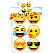 Detské bavlnené obliečky Emoji, 140 x 200 cm, 70 x 90 cm