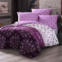 Alberica pamut ágyneműhuzat lila