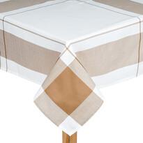Obrus kocka béžová, 140 x 180 cm