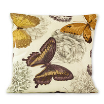 Poszewka na poduszkę Klasic motyl brązowy, 45 x 45 cm