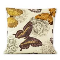 Povlak na polštářek Klasic motýl fialová, 45 x 45 cm