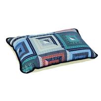Poduszka wełniana Merino patchwork, 40 x 60 cm