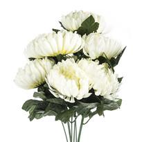 Umelá kytica Chryzantéma, biela