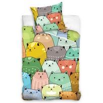 Dziecięca pościel bawełniana Koty są wszędzie, 140 x 200 cm, 70 x 80 cm