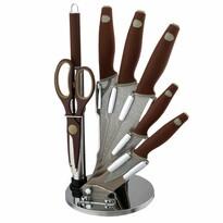 Berlinger Haus 8-częściowy zestaw noży w stojaku Granit Diamond Line