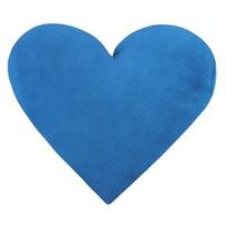 Polštářek Korall micro Srdce modrá, 42 x 48 cm