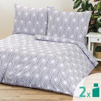 2 sady obliečok Retro violet, 140 x 200 cm, 70 x 90 cm