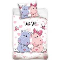 Bavlnené obliečky U & Me Hrošíci, 140 x 200 cm, 70 x 90 cm