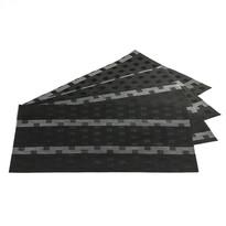 Podkładki na stół Grid czarne, 30 x 45 cm, 4 szt.