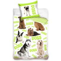Bavlnené obliečky Dogs, 140 x 200 cm, 70 x 90 cm