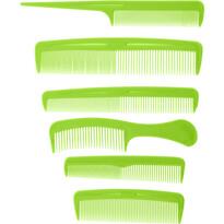 Set piepteni Combs verde, 6 buc.