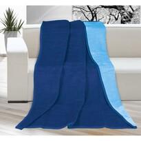 Koc Kira niebieski/jasnoniebieski, 150 x 200 cm