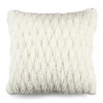 Poszewka na poduszkę włochata pikowana biały, 45 x 45 cm