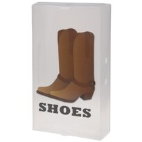 Úložný box na vysoké topánky 51,5 x 30 x 11,5 cm, hnedá