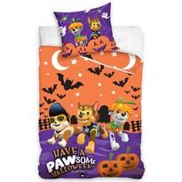 Dětské bavlněné povlečení Tlapková patrola Halloween, 140 x 200 cm, 70 x 90 cm