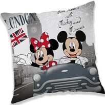Polštářek Mickey and Minnie London, 40 x 40 cm