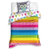 Bavlnené obliečky Sovička Rainbow, 140 x 200 cm, 70 x 90 cm