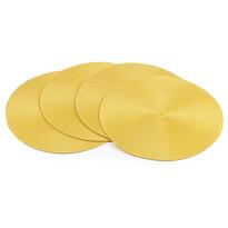 Prestieranie Deco okrúhle žltá, pr. 35 cm, sada 4 ks