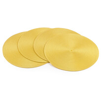 Prostírání Deco kulaté žlutá, pr. 35 cm, sada 4 ks